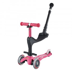 Micro Step Mini Deluxe 3 in 1 Pink (Push Bar)