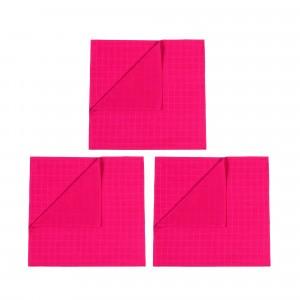 Mundo Melocoton Tetradoek Klein Set van 3 Framboos
