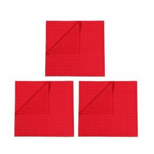 Mundo Melocoton Tetradoek Klein Set van 3 Rood