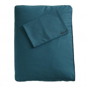 Mundo Melocoton Dekbedovertrek Organic Cotton Mar i Mar Teal Kinderbed (100 x 140cm)