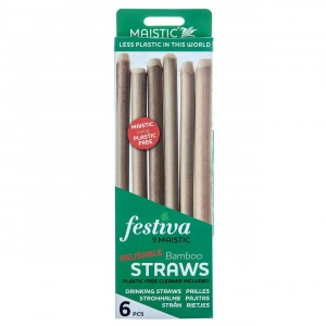 Maistic Bamboe Rietjes (6 stuks)