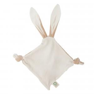 Wooly Organic Speendoekje Bunny Ears met Bijtring
