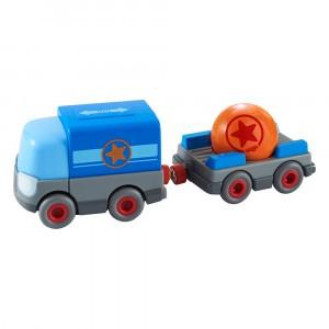 Haba Kullerbu Vrachtwagen met aanhangwagen, op batterijen