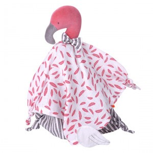 Kikadu Knuffeldoekje Flamingo