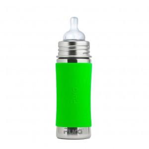 Pura Kiki Speenfles 325ml met Sleeve Groen