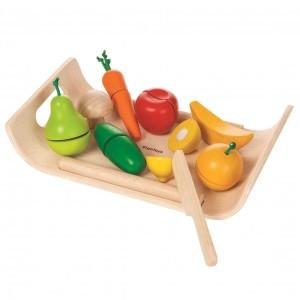 PlanToys Keuken Fruit en Groenten Schaal