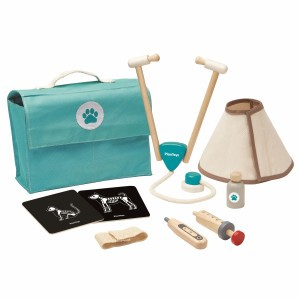 PlanToys Tas Dierenarts Set