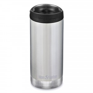 Klean Kanteen Thermosbeker TKWide met Café Cap (355 ml) Brushed Stainless