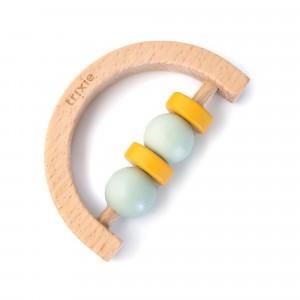 Trixie Houten Halve Cirkel Rammelaar Mint Yellow