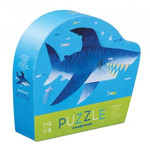 Crocodile Creek puzzel mini Shark (12 stukken)