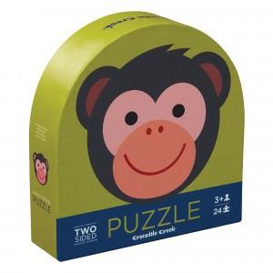 Crocodile Creek Puzzel Tweezijdig Monkey Friends (24 stukken)