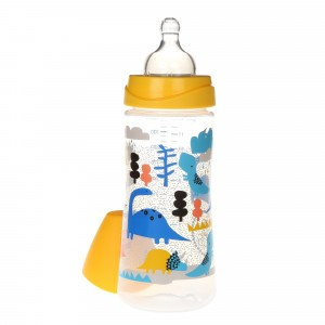 Suavinex Fles Silicone 360 ml + 4 maanden L The Dinos Geel