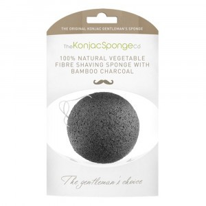 The Konjac Sponge co. Reinigingsspons Gezicht Mannen - Bamboo Charcoal