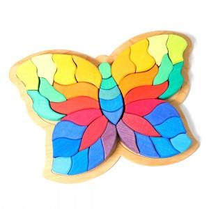 Grimm's Bouwset Regenboog Vlinder