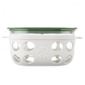 Lifefactory Glazen Bewaardoos 950ml Groen-Wit
