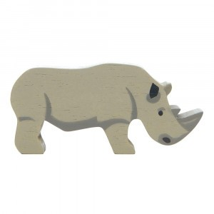 Tender Leaf Toys Houten Safaridier Neushoorn