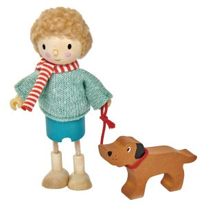 Tender Leaf Toys Poppenfamilie Popje Mr. Goodwood en Hond