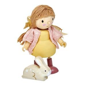 Tender Leaf Toys Poppenfamilie Popje Amy en haar Konijn