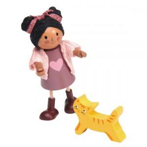 Tender Leaf Toys Poppenfamilie Popje Ayana en haar Kat