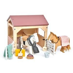 Tender Leaf Toys Huisdierenset Stal met 2 Pony's