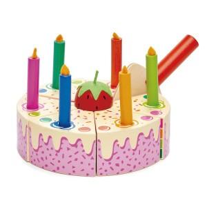 Tender Leaf Toys Verjaardagscake Regenboog