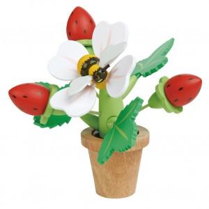 Tender Leaf Toys Tuinieren Bloempot met Aardbeien