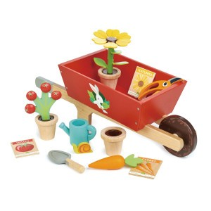 Tender Leaf Toys Tuinieren Kruiwagen met Tuinset