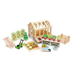 Tender Leaf Toys Poppenhuis Accessoires Serre en Tuinset