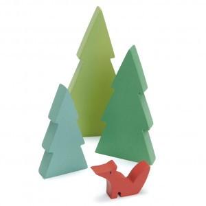Tender Leaf Toys Trein Dennenbomen