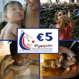 5 Euro Steun Pinocchio VZW
