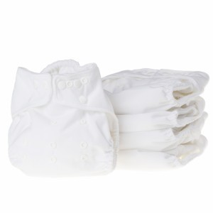 Little Lamb Voordeelpakket Mini One Size Wit (5 stuks)