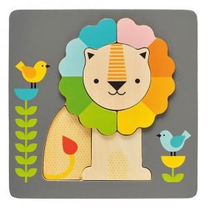 Petit Collage Chunky Houten Puzzel Leeuw