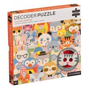Petit Collage Decoder Puzzel Dierenfestival