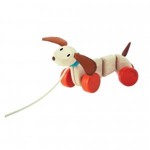 PlanToys Trekspeeltje Happy Puppy