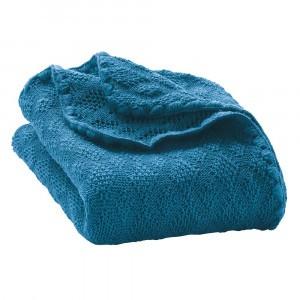 Disana Wollen Babydeken (100 x 80 cm) Blue