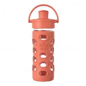 Lifefactory Glazen Drinkfles 350 ml Active Flip Cap - Persimmon