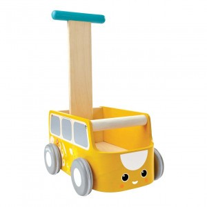 PlanToys Loopwagen Geel