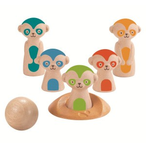 PlanToys Stokstaartjes bowling