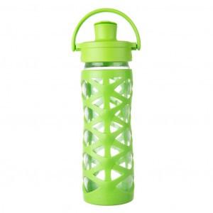 Lifefactory Glazen Drinkfles 475 ml Active Flip Cap - Lime