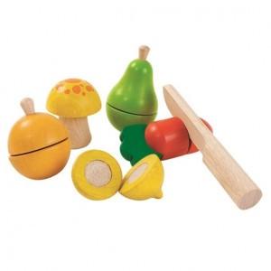 PlanToys Keuken Fruit en Groenten Speelset