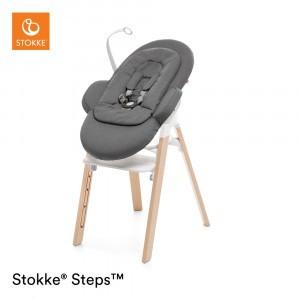 Stokke Steps Newborn Set Deep Grey w. white chassis