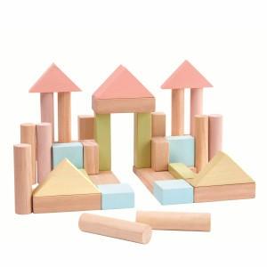 PlanToys 40 Blokken Pastel