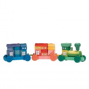 Ostheimer Stapelfiguur Trein gekleurd (60 cm)