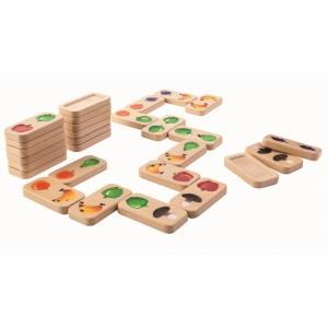 PlanToys Spel Domino Fruit en Groenten