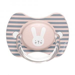 Suavinex Fopspeen Hygge Fysiologisch Silicone 6-18 maand Pink Rabbits