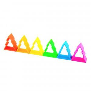 Dëna Silicone Speelgoed 6 Bomen Neon