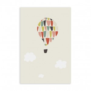Trixie Postkaart Luchtballon