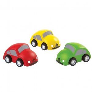 PlanToys Gekleurde Auto's ( rood - geel - groen)