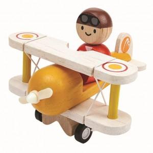 PlanToys Vliegtuig met piloot