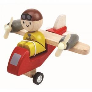 PlanToys Vliegtuig met piloot Turbineschroef
